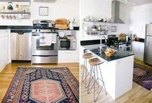 Kitchen Area Rug / Beautiful kitchen interiors with area rugs. / by Medallion Rugs