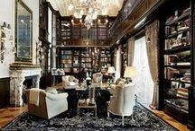 Library / Library interior inspiration with rugs / by Medallion Rug Gallery