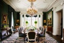 Dining Room  / Dining room interior inspiration with rugs / by Medallion Rug Gallery