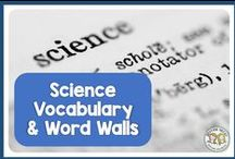 Science Vocabulary and Word Walls / Word wall and vocabulary ideas for the classroom