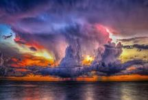 the power of nature / clouds, rainbows, storms