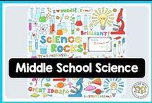 Middle School Science / Life science, biology, physics, earth science, chemistry, and more ALL for middle schoolers - lessons, activities, INB, notes, interactive notebook activities, labs, tests, quizzes, and curriculum. #lifescience #biology #lifesciencelessons #biologylessons