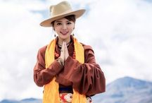 Tibet dresses  Chupa / There is many different design on Tibet traditional dress Chupa.