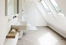 Daylight in bathrooms / Ideas and inspiration to make the most of your bathroom - include a skylight, sun tunnel or roof window to add the wow factor to a much ignored room.  www.sterlingbuild.co.uk