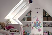 Daylight in kids' bedrooms / Add a roof window, skylight or sun tunnel to your children's bedroom for a bright creative space. Blackout blinds also available for a good nights sleep! www.sterlingbuild.co.uk