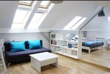 Daylight in top floor apartments / Living in a top floor flat (or apartment), you have the luxury of enjoying more daylight in your home. Here are some great ideas.