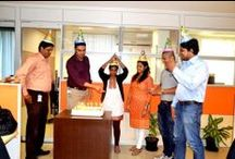 Birthday Celebrations / Board with pics taken at birthday celebrations @ Ambit Software.