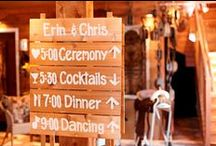 Personalized Signs / Customized wedding signs at Green Acres Event Center in Eden Prairie, Minnesota