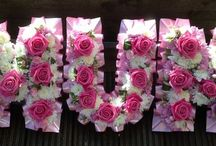 Letter tributes / Funeral tributes using letters by Jo Beth floral design
