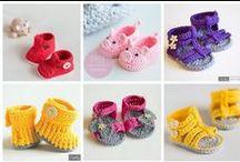 Ganchillo Patucos bebé Crochet / Inspiración. Patucos de bebé realizados a ganchillo crochet