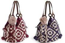 Ganchillo Bolsos al hombro Crochet / Inspiración.  Ideas para realizar bolsos al hombro, a ganchillo o tejidos