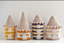 Ganchillo Casitas Crochet / Inspiración. Fantasía. Casitas realizadas a ganchillo o tejidas