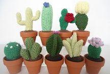 Ganchillo Cactus Crochet / Inspiración Cactus realizados a ganchillo crochet o tejidos