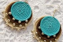 Ganchillo Pendientes Crochet / Inspiración. Pendientes tejidos a ganchillo