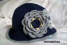 Ganchillo Gorros Crochet y Tejidos / inspiración. Gorros tejidos a ganchillo crochet o tejidos