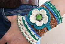 Ganchillo Pulseras crochet / Inspiración. Pulseras a ganchillo crochet