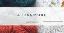 Arranmore | The Fibre Co. Aran yarn / Arranmore is a woollen spun aran weight yarn. Blending cashmere and silk with a fine merino wool creates an authentic tweed yarn of the finest quality