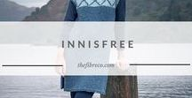 "The Innisfree Collection | The Fibre Co. / Knitting patterns designed for The Fibre Co. Arranmore yarn. Innisfree is a collection of designs inspired by the reflective mood of William Butler Yeats' poem ""The Lake Isle of Innisfree"" which begins with the words ""I will arise and go now, and go to Innisfree…I will arise and go now, for always night and day, I hear lake water lapping with low sounds by the shore."""