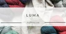 Luma | The Fibre Co. DK yarn / A classic DK weight yarn, Luma is inspired by the mood and light found in mid-latitude savannas—those grassland ecosystems with open canopies allowing plenty of sunlight. Plant-based fibres mixed with silk and wool provide a built-in layer of warmth in winter yet lightness when required in warmer temperatures. The Luma palette includes soft neutrals and bright shades of pink, blue and green.