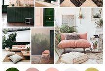 Palette interni: verde e rosa
