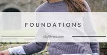 Foundations Collections | The Fibre Co. / Knitting patterns for beginners. Introducing Foundations, a series of collections aimed at new knitters or those ready to expand their skills who want simple knitting patterns they can adapt.