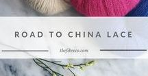 Road to China Lace | The Fibre Co. Lace yarn / Road to China Lace is a baby alpaca, cashmere, silk and camel 2ply yarn that celebrates our love for the beauty of natural fibres.