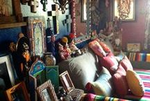 Interiors; Bohemian, eclectic, colourful, ... / by Heart in the woods
