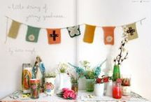 Garlands, Mobiles and Bunting/Prayer Flags / by Heart in the woods