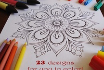 Coloring - pages / by Leticia Escabi