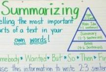 Reading-Summarizing / Summarizing fiction and nonfiction anchor charts, lessons, activities, and resources.