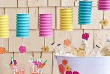 Luau Party / A Luau party is the perfect way to make the most of summer. Check out our favorite ideas and tips for planning a festive and memorable Hawaiian Luau.