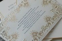 Lace Wedding / Lace wedding invitations, save the dates and inspiration