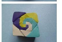 Polymer clay  TUTORIAL / Jewerly, tutorials, canes, diy, art polymer