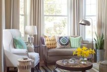 Bay Window Ideas / Bay windows can be a great addition your home because they not only give extra floor space but can also be a great place for decorations, an eating area or a place to read a good book.