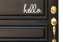 Welcoming Front Doors / Your front door is the first thing your home has to make your guests feel welcomed and to make an impression.