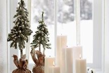 Winter Window Ideas  / Here are some tips and ideas on how to do decorate your windows during the winter months.