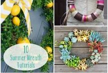 Front Door Decor for Summer / Get inspired this summer with creative ways and ideas on how decorate your front door! #frontdoor, #porchdecor, #summerdecor