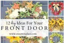 Front Door Decorations / Decorating your front door is a simple way to add curb appeal to your home. Use this board to help you get ideas for decorating your front door. #frontdoor #porchdecor