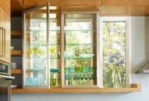Decorative Window Glass / Colored and textured glass can be beautiful and used in many ways to decorate your home.