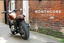 """The Northcore Triumph """"Beach Bonneville"""" / A collection of images of our shed built 2001 Hinckley Triumph Bonnevillle. Our goal was to give our Bonny a street tracker style with a classic vibe, designed for transporting me and my surfboards to the beach."""