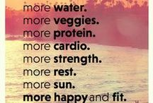 Healthy Living, Happy Mind! / Taking care of our body and mind is just as important as fitness and exercise! Here's to a happy and healthy life!