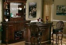 Bar Ideas / Whether you want to add a special touch to a finished basement, make a little add-on to your dining room or improve your mancave (or womancave) or anything else, take a look at our selection of bars, bar accent pieces, bar carts, bar stools and more