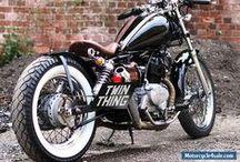 custom built Honda Rebel motorcycle