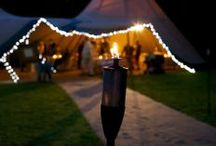 A night to remember / Our tipis look simply magical when the sun goes down. Once the canvas colour glows warm orange and those fairy lights start to twinkle, your guests will never want to leave!