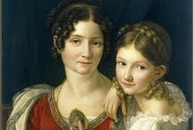 Regency Portraits / Portraits depicting the fashion of the Regency period
