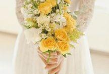 Merris Court Wedding (yellow and blue flowers) / wedding flowers