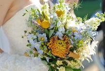 Blue and Yellow Wedding Flowers (Rustic and Vintage) / Wedding Flowers for June Wedding 2015