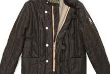Quilted Jacket Waxed Cotton Green