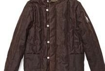 Quilted jacket, waxed cotton - Brown