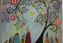 Inspiration - Træer / Inspiration til malerier.